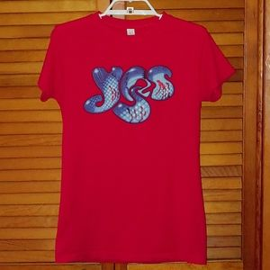 Yes band shirt 2011 - Red and Blue - Size Medium